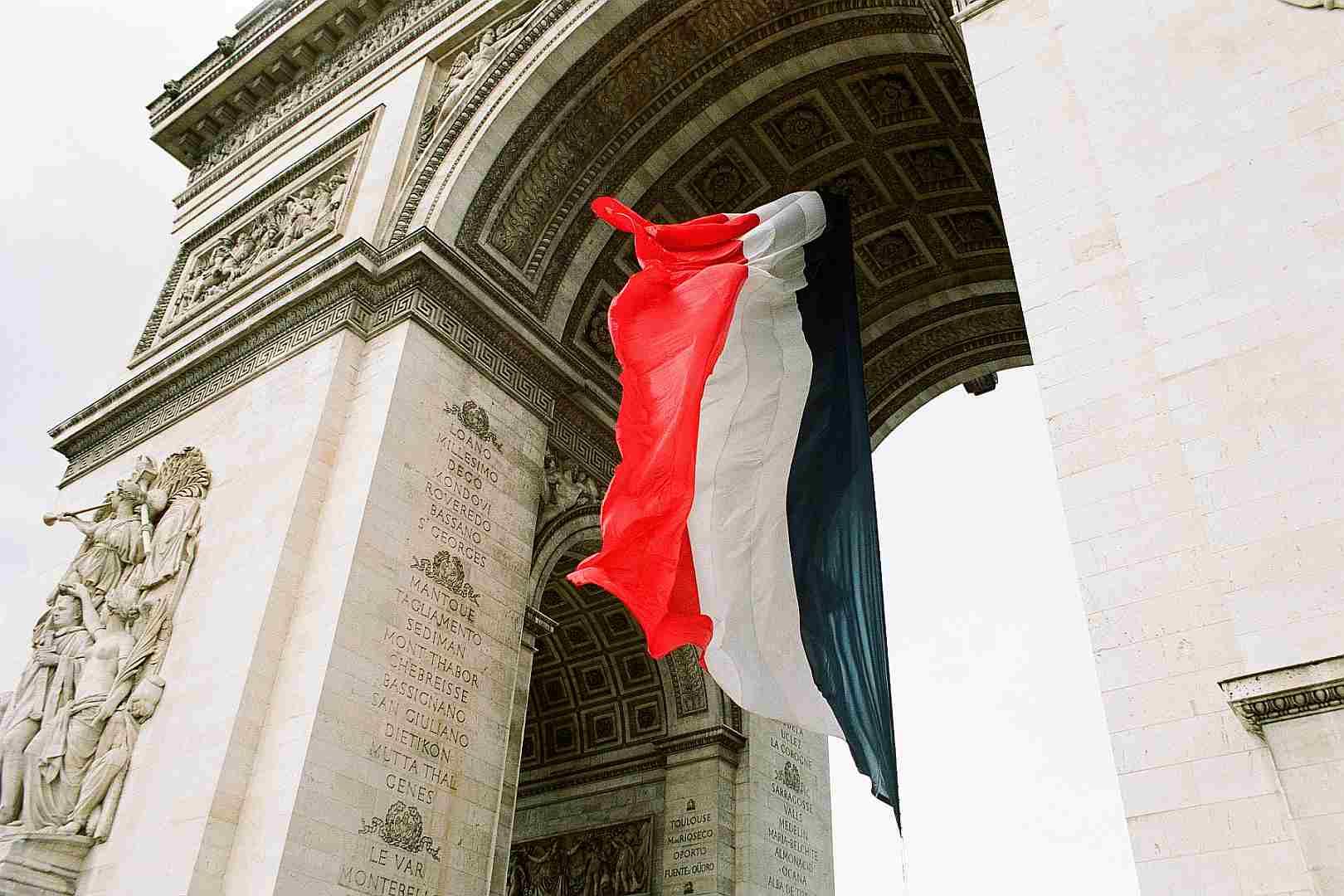 Bandera Francia Arco Triunfo