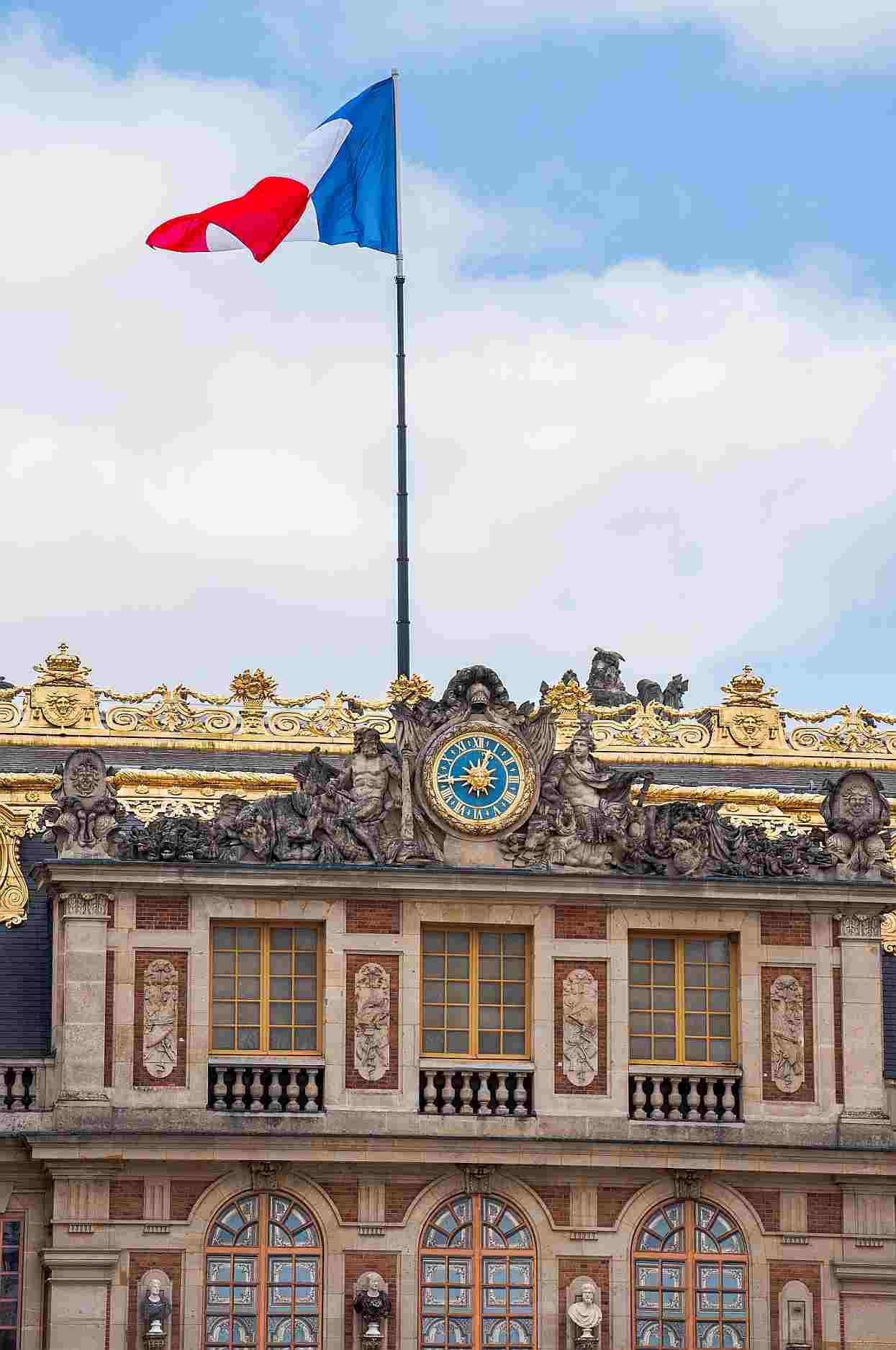 Bandera Francia Palacio Versalles