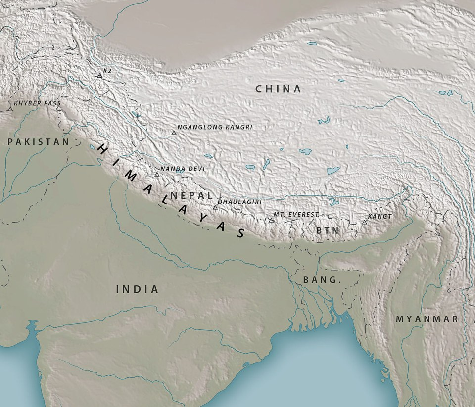 Cordillera Himalaya Everest