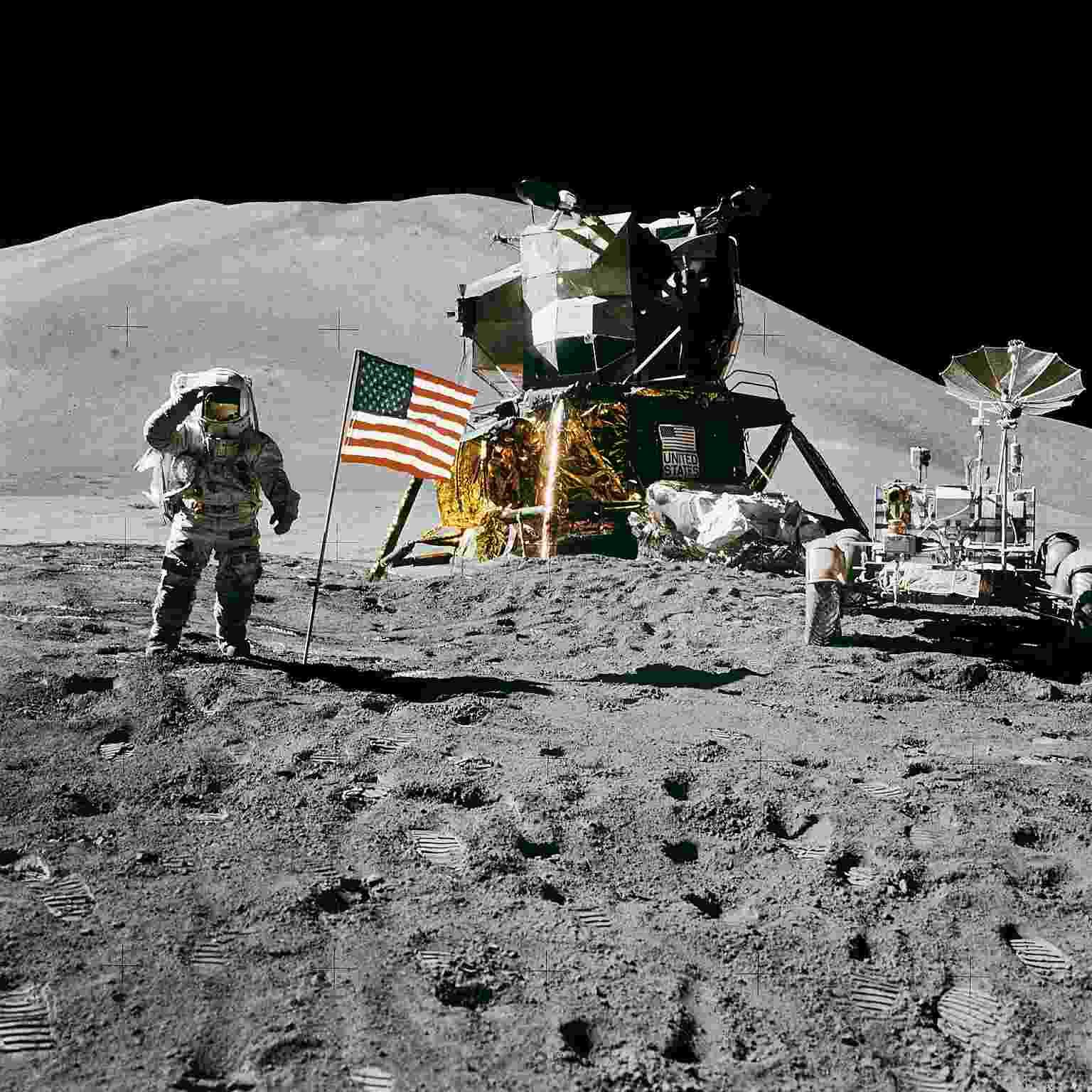 Luna Mision espacial apolo eeuu