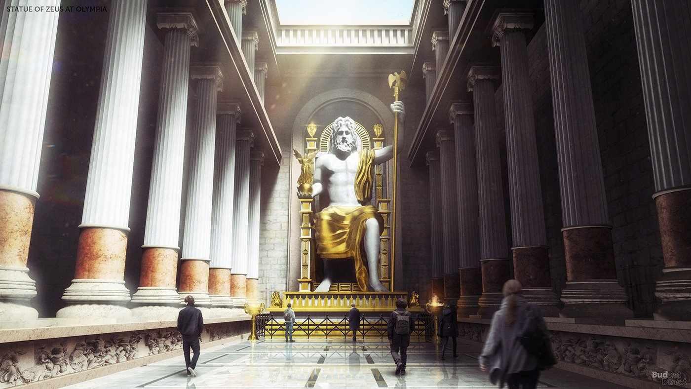 Estatua Zeus Olimpia 7 Maravilla Mundo Antiguo