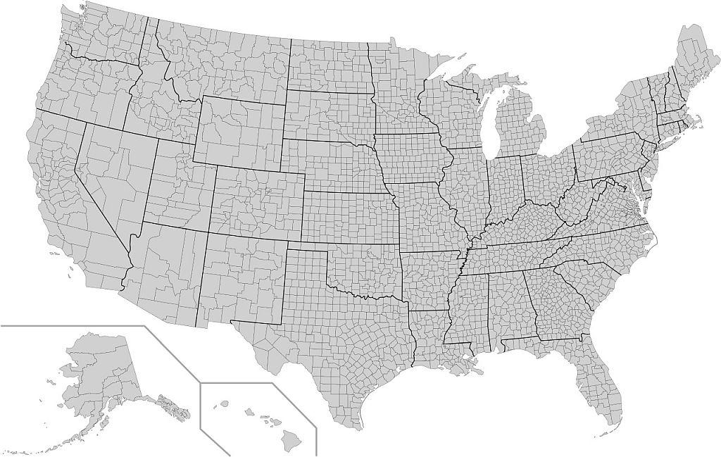 Condados y estados Estados Unidos