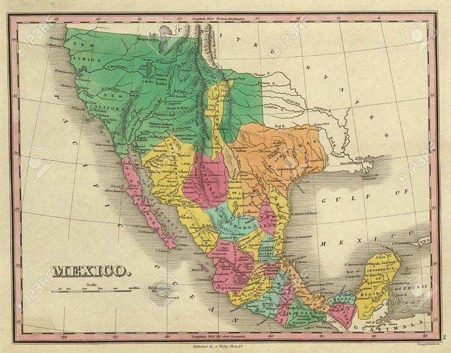Mapa Mexico 1831