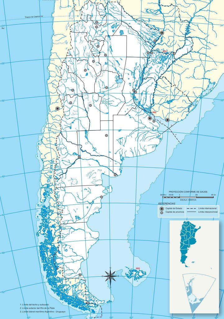 Mapa político Argentina