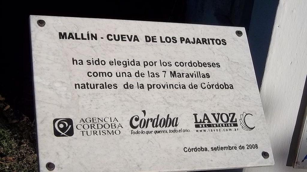 Cueva de los Pajaritos Córdoba Argentina Turismo