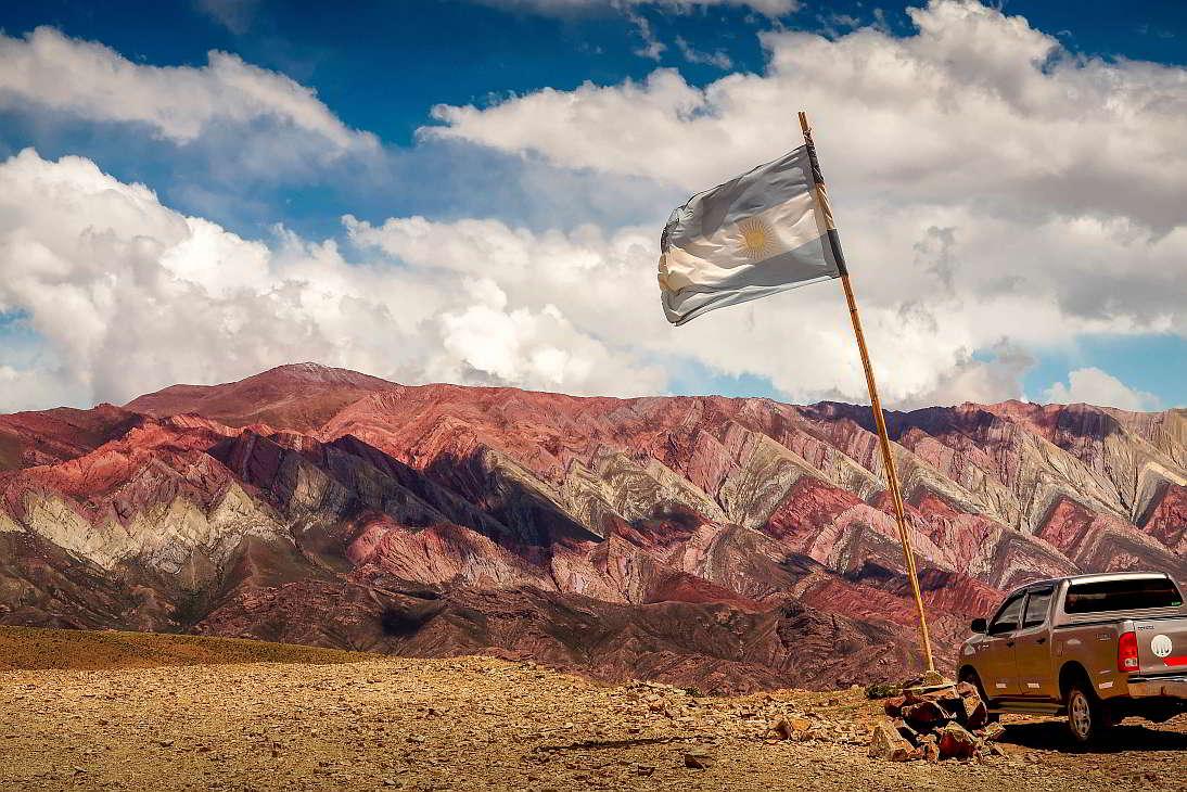 Bandera Argentina Jujuy Cerro Siete Colores