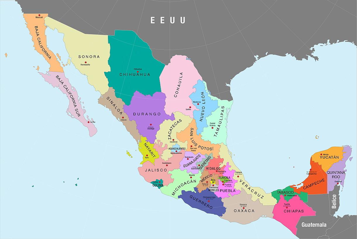Mapa Estados de México