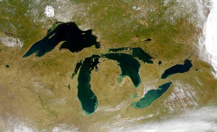Grandes Lagos America del Norte Satelital