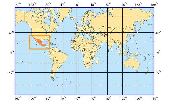 Ubicación México Coordenadas