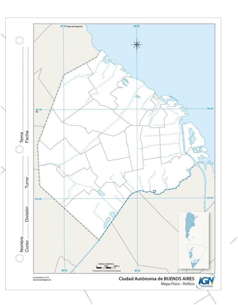 Mapa político CABA argentina