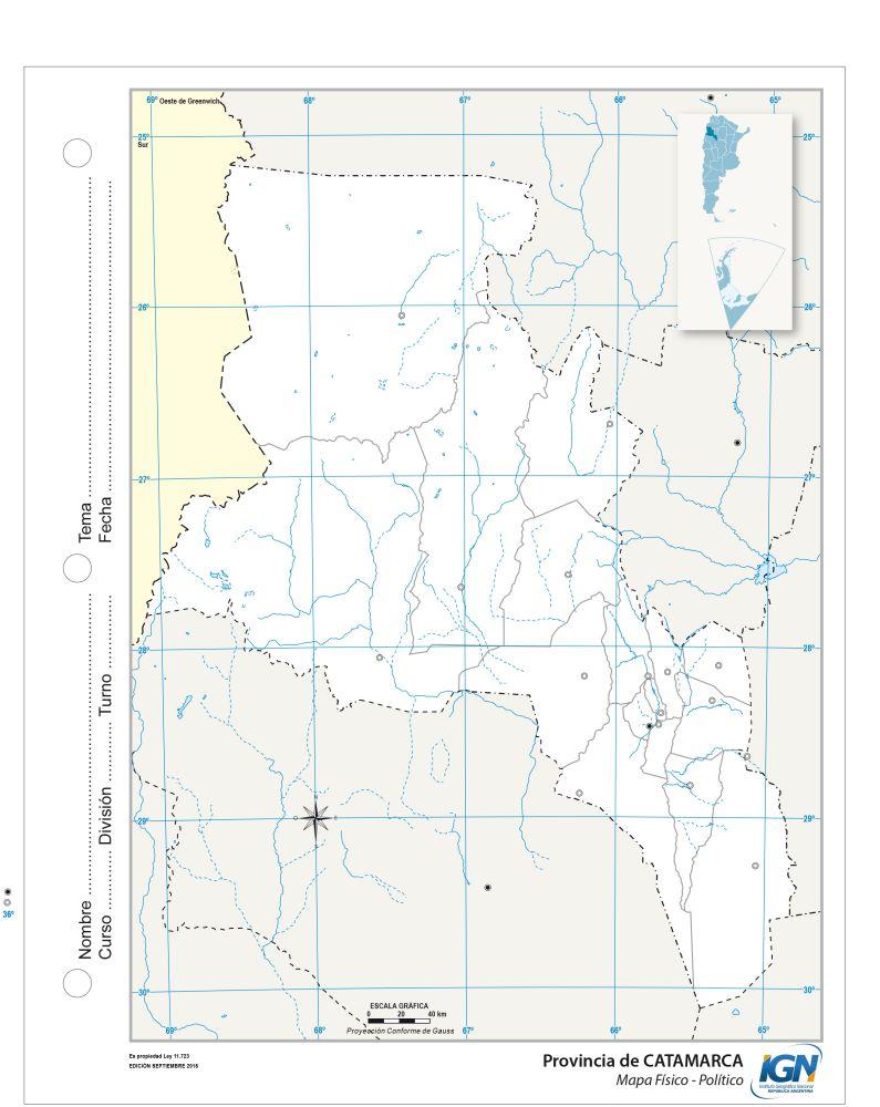 Mapa político escolar provincia de catamarca argentina