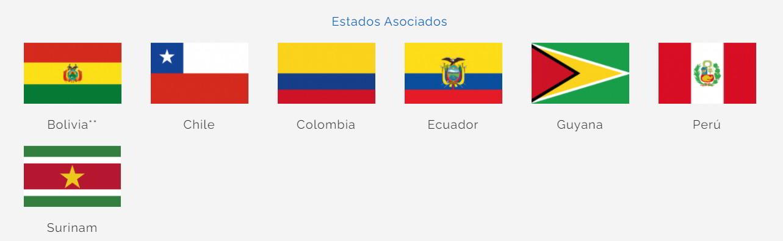 Estados Asociados MERCOSUR
